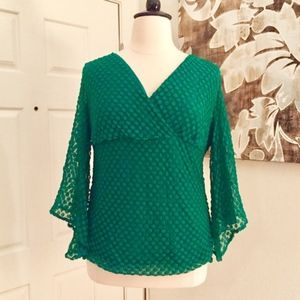 Style & Co Woman's Blouse in Hunter Green